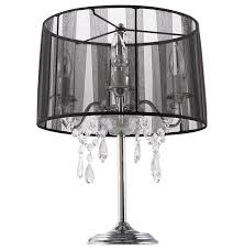 lighting marvellous chandelier table lamp tadpoles shade black shades lamps for crystal chandelier table