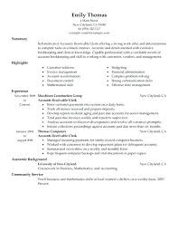 Free Accounts Receivable Job Description Resume Accounts Payable