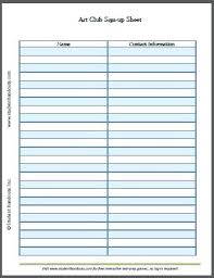 sign up sheet template printable template luncheon sign up sheet template