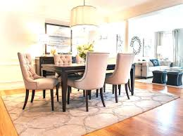 area rug under dining room table bench size space ideas and