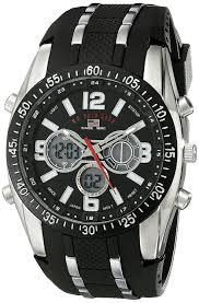 u s polo assn men s black rubber analogue digital watch u s polo assn sport men s us9281 sport watch