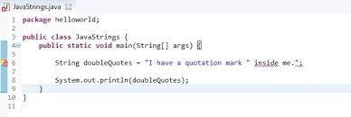 Quote Inside A Quote Java 9 Strings Studio Freya