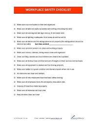 Work Safety Checklist Business Forms Pinterest Safety