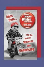 Button Geburtstag Karte Grußkarte Humor Motorrad Kluge Frau 16x11cm