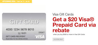 staples is offering a 20 prepaid visa rebate when ing 300 in visa gift cards from a staples from 1 14 1 20