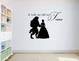 beauty and the beast wall decal quotes a tale as old as time vinyl wall stickers on vinyl wall art quotes for bedroom with beauty and the beast wall decal quotes a tale as old as time vinyl