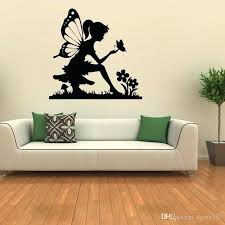 removable wall the erfly girl and flower mushroom vinyl fairy sticker removable wall art bedroom sitting room decal sports wall decals sports wall