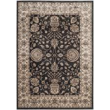 safavieh persian garden anthracite ivory 4 ft x 6 ft area rug