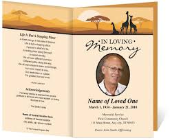 Funeral Invitation Templates Free Funeral Program Template Brochure Design Pinterest 4