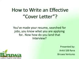 Resume How To Write An Effective Cover Letter Best Inspiration