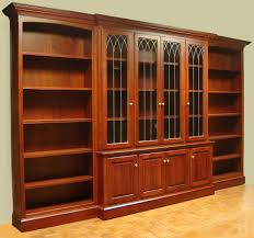 cherry bookcases within fashionable hand crafted cherry bookcase with leaded glass doors and open side