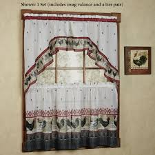 Red Kitchen Curtain Sets Red Plaid Kitchen Curtains Cabin Curtains And Plaid Rustic Window