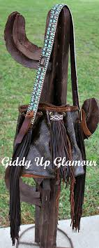 leather and vodka custom giddy up glamour bag with patina turquoise and topaz kippy strap