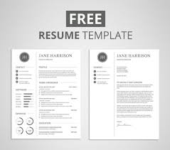 Modern Minimal Resume Template Free Stock Vector Clean Curriculum Vitae Resume Template With