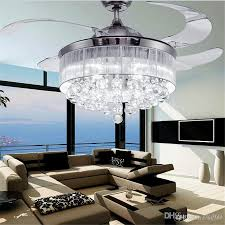 led ceiling fans light invisible blades modern with lights fan lamp living room bedroom chandeliers pendant from indoor outdoor white low profile without