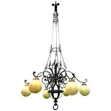 wow huge 9 feet high arts crafts wrought iron chandelier pendant light for outstanding chandeliers rustic id f