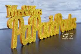 glitter set mr and mrs last name wooden letter custom wood wedding sign table or wall decor letters decoration signs wedding initials
