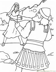 David Vs Goliath All Saints Day Coloring Page Coloring Home