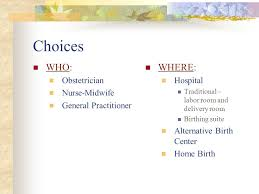 Birth Plan Choices Childbirth Choices Choosing A Health Care Provider Creating