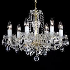 crystal chandelier classic gold color 3206 b ry kamenický Šenov