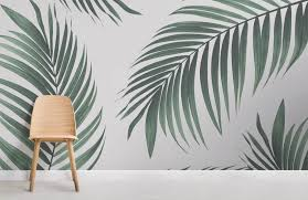 tropical palm wall mural
