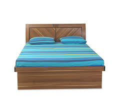 Nilkamal Bedroom Furniture Buy Volta Queen Bed Home By Nilkamal Light Walnut Online At Home