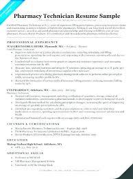 Pharmacy Technician Resume Templates Classy Resume Pharmacy Technician Pharmacist Resume Sample Resume Pharmacy
