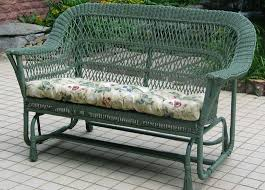 Mackinac Out Wicker Settee Double Glider [NC369G2] Jaetees