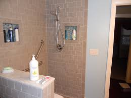 Chrome Corner Head Shower With Built In Shower Niche For Soap ...