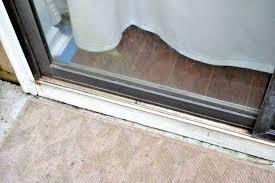 unsticking the sliding glass door