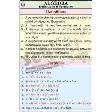 Nck Algebra Chart