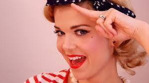 vine sailor pinup makeup
