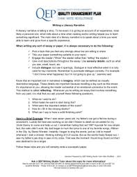 narrative essay notes writing a literacy narrative