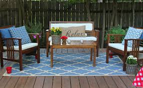brown rectangle contemporary wooden outdoor patio furniture varnished ideas for patio furniture