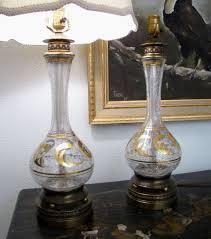 hollywood regency lighting. hollywood regency lamp pair murano glass lamps vintage blown gold venetian lighting e