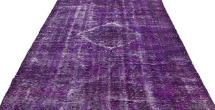 picture of over dyed turkish vintage rug