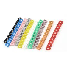 Number 0-9 Assorted Color Cord Cable Labels Markers 10 Pcs LW