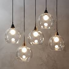 industrial modern chandelier suspends five glass globes from blacku2026 hanging lights a93