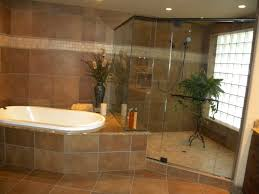 shower tub combo tile ideas natural stone wall and floor tiled wall mounted round shower head