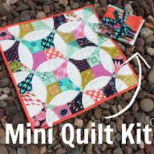 34 best Rainbow Mini Quilt inspiration team orange images on ... & Flowering Snowball Mini Quilt Kit with Cotton & Steel Fabrics from Mustang,  August, Hatbox Adamdwight.com