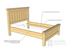 bed frame for guest room from anawhite farmhouse bed frame how to