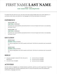 Chronological Resume (Modern design)