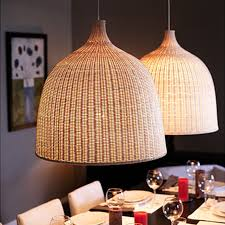 luxurious wicker lamp shades at lamps hanging