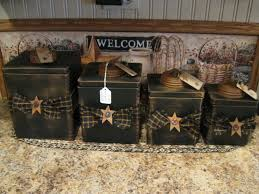 Rustic Kitchen Canister Sets 1000 Ideas About Primitive Canisters On Pinterest Primitive