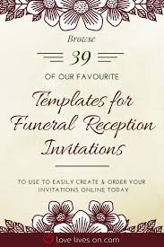 Make Your Invitation 39 Best Funeral Reception Invitations Funeral Reception