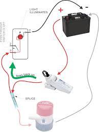 bilge pump wiring allows indicator light to shine on rocker switch
