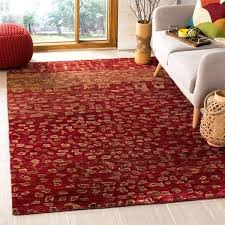 red jute rug hand knotted tangier red wool jute rug