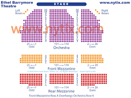 Ethel Barrymore Seating Chart Ethel Barrymore Theatre Seating Chart Seating Chart