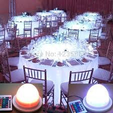 free super bright rgb 16 colors remote control cordless under table light for wedding event