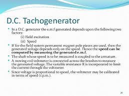 speed measurement tachometer d c tachogenerator
